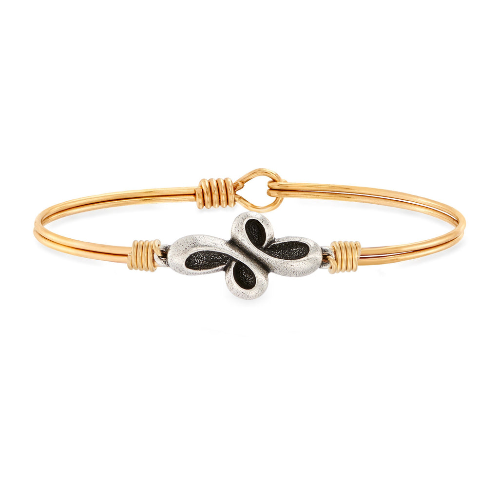Eternal Cross Bangle Bracelet choose finish:Brass Tone