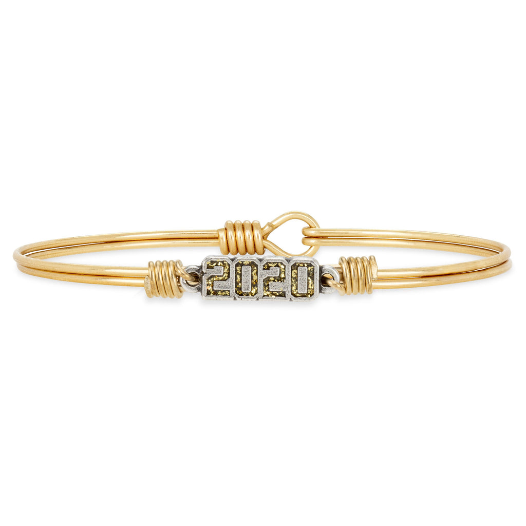 2020 Bangle Bracelet choose finish:Brass Tone