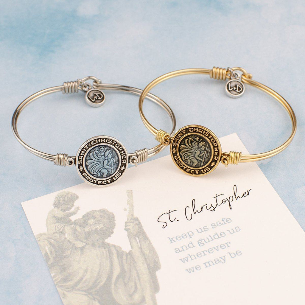 Saint Christopher Bangle Bracelet