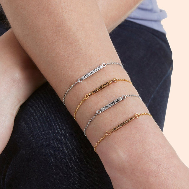 She Is Fierce Slider Bracelet