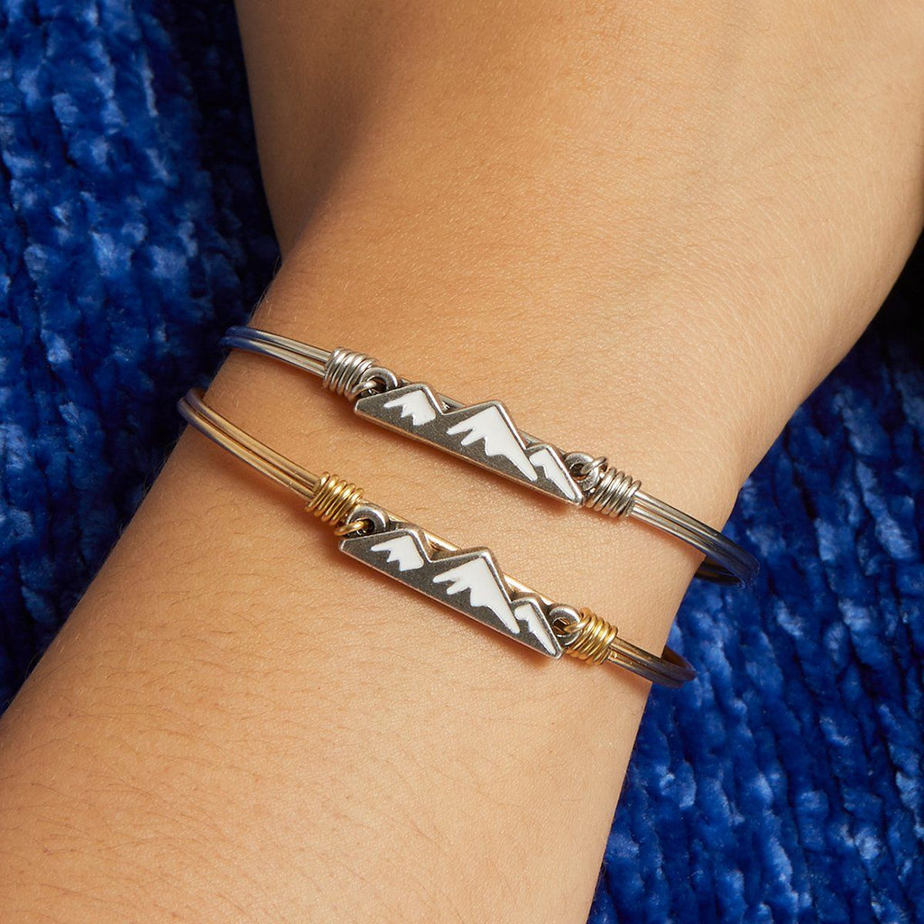 Snowy Mountain Bangle Bracelet
