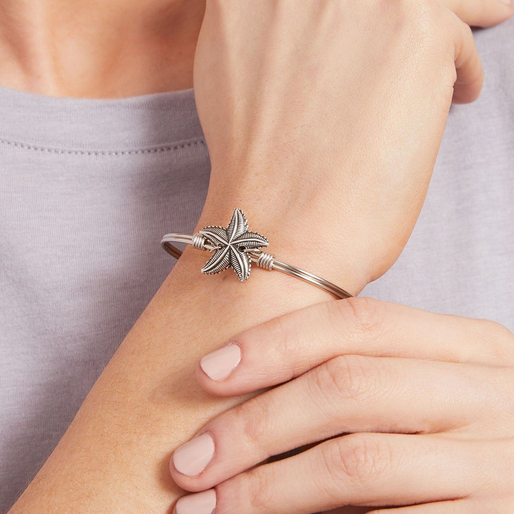 Starfish Bangle Bracelet choose finish: