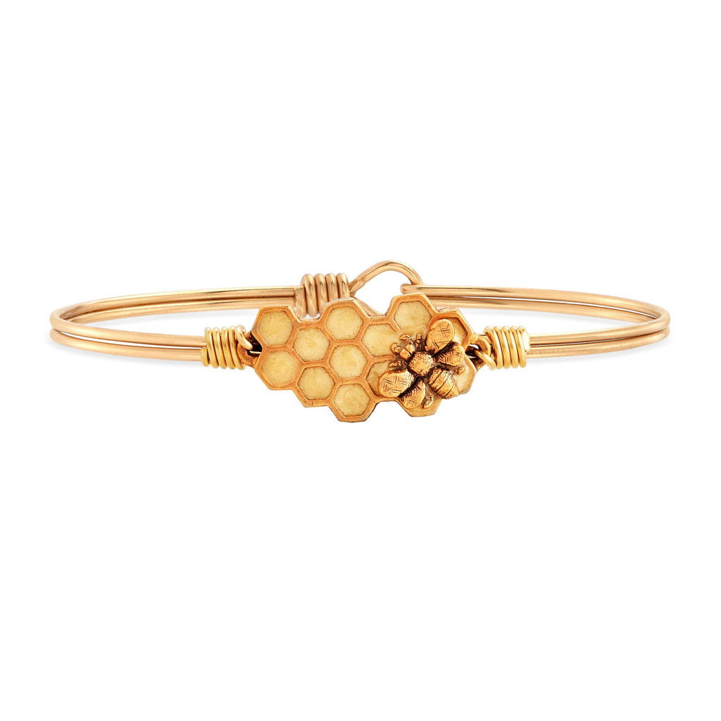 Queen Bee Bangle Bracelet choose finish:Brass Tone