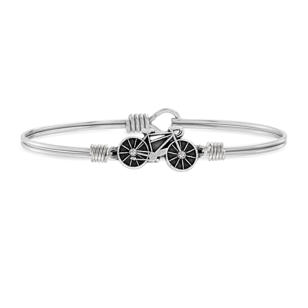 Cyclist Bangle Bracelet choose finish:Silver Tone
