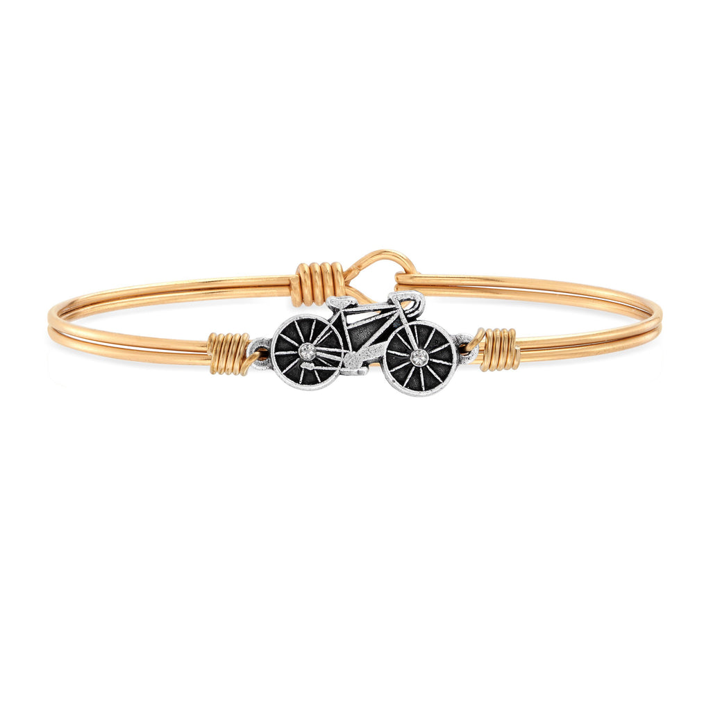 Cyclist Bangle Bracelet choose finish:Brass Tone