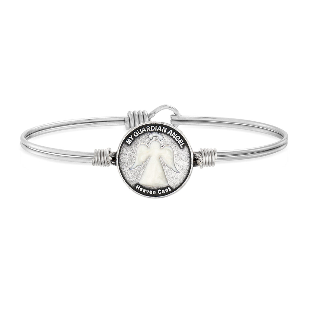Heaven Cent Bangle Bracelet choose finish:silver tone