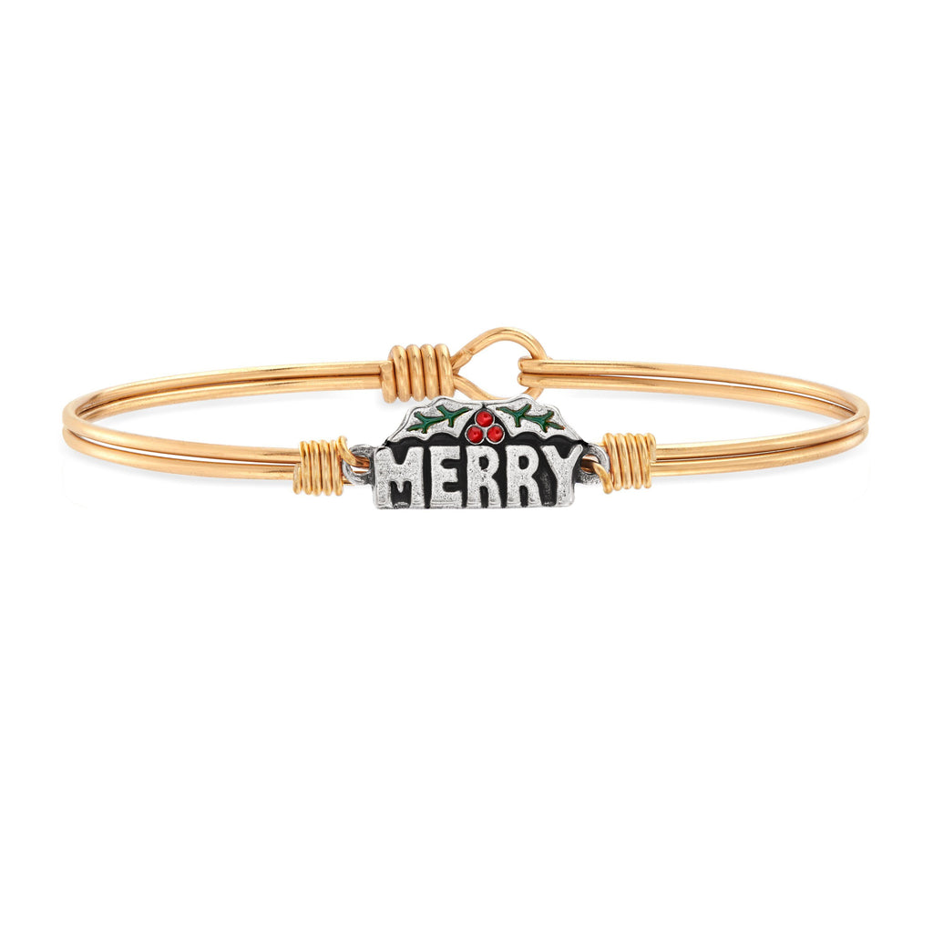 Merry Bangle Bracelet choose finish:brass tone