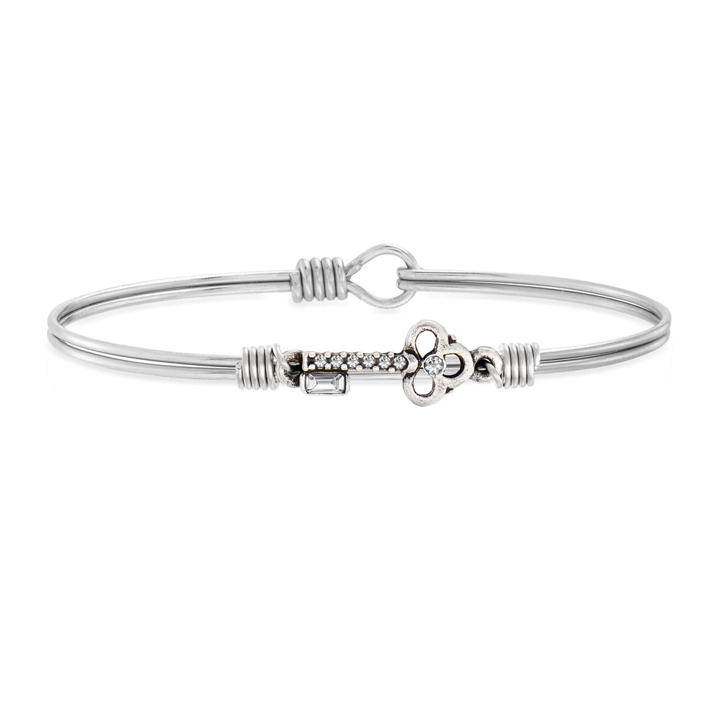 Key Bangle Bracelet choose finish:Silver Tone