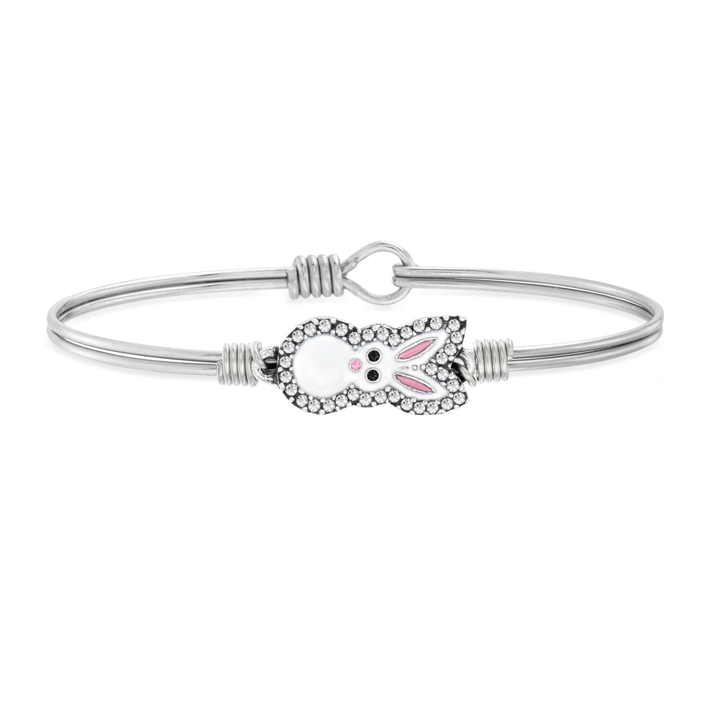 Bunny Bangle Bracelet choose finish:Silver Tone