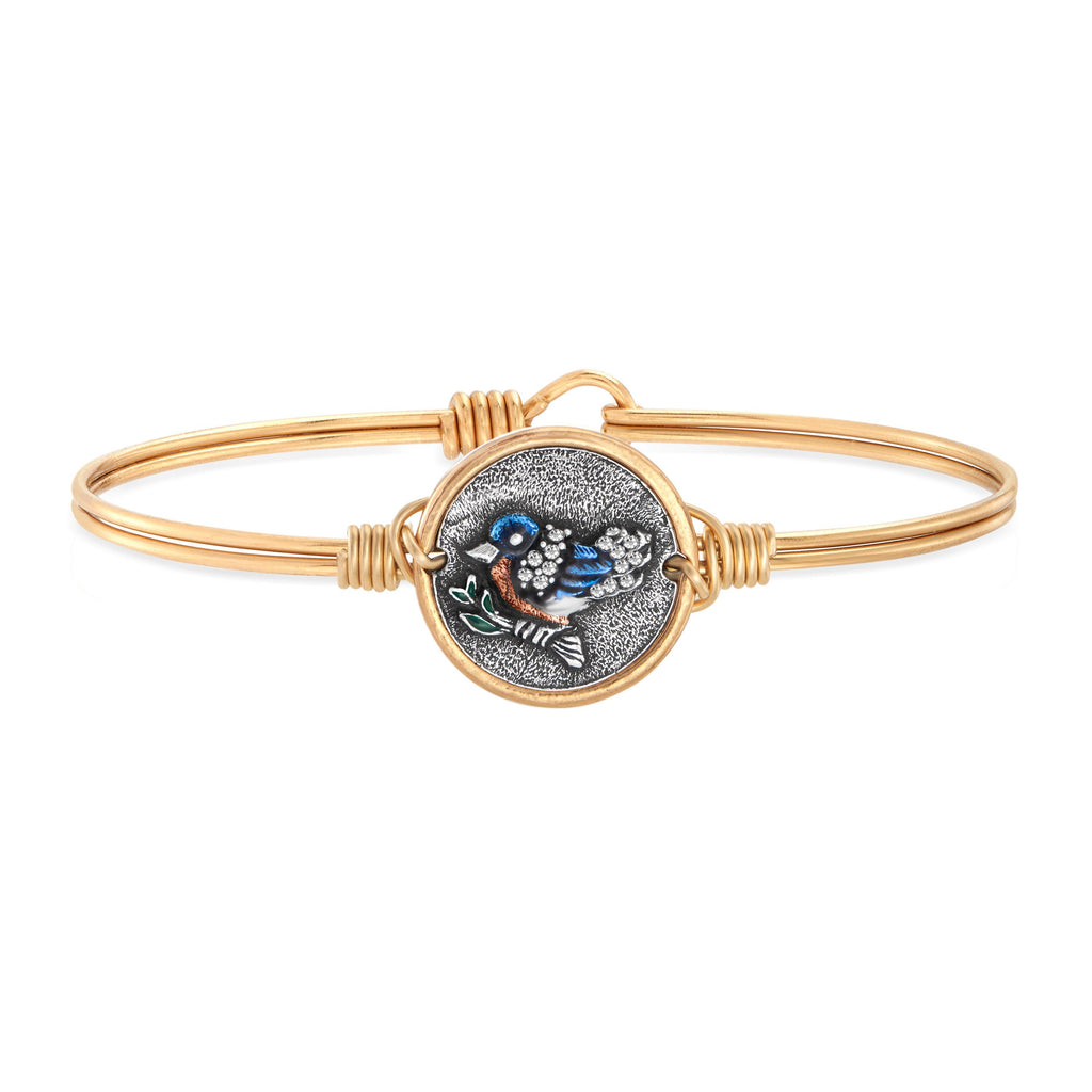 Bluebird Bangle Bracelet (new) choose finish:Brass Tone