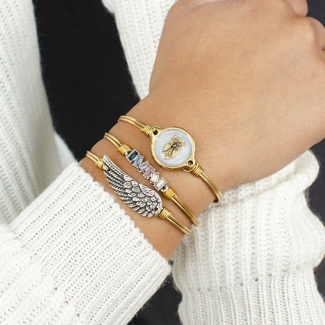 Wise Owl Bangle Bracelet