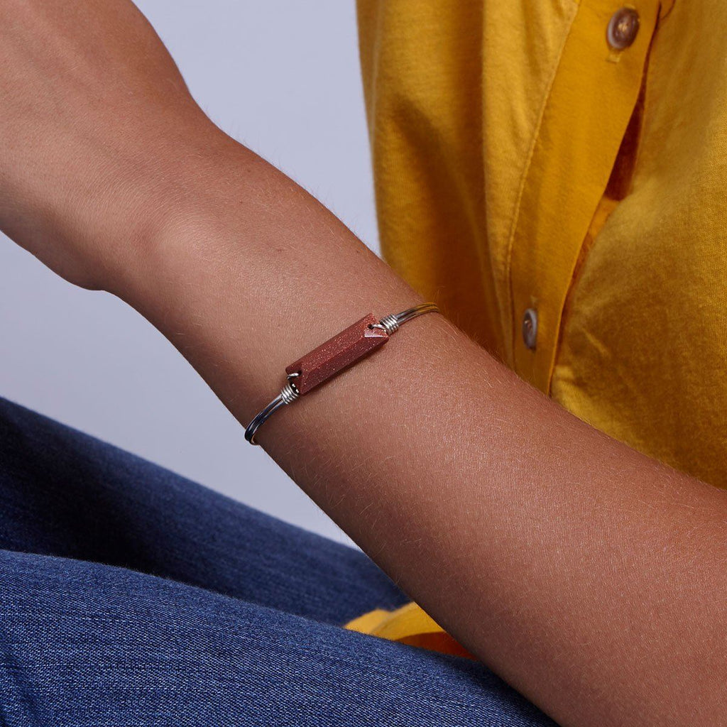 Hudson Bangle Bracelet in Goldstone-Bangle Bracelet-finish:-Luca + Danni