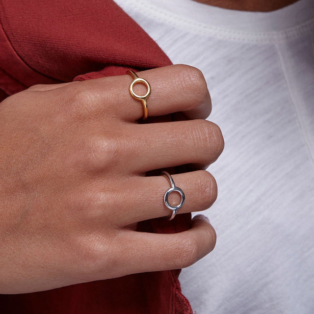 Zen Circle Ring-Rings-finish:18k Gold Plated-6-Luca + Danni