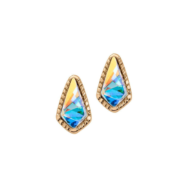 Sloane Stud Earrings In Crystal AB-Earrings-finish:18kt Gold Plated-Luca + Danni