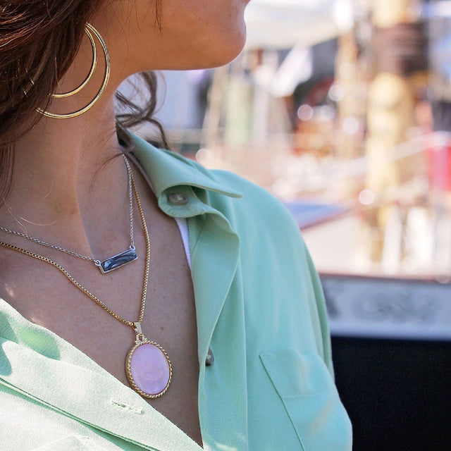 Hudson Necklace in Abalone Shell-Necklace-finish:-Luca + Danni