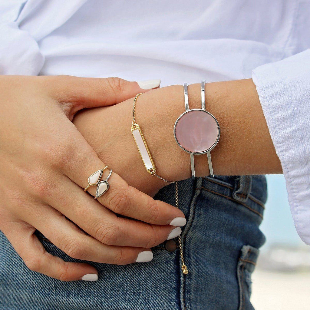 Sloane Ring in Pink Mussel Shell