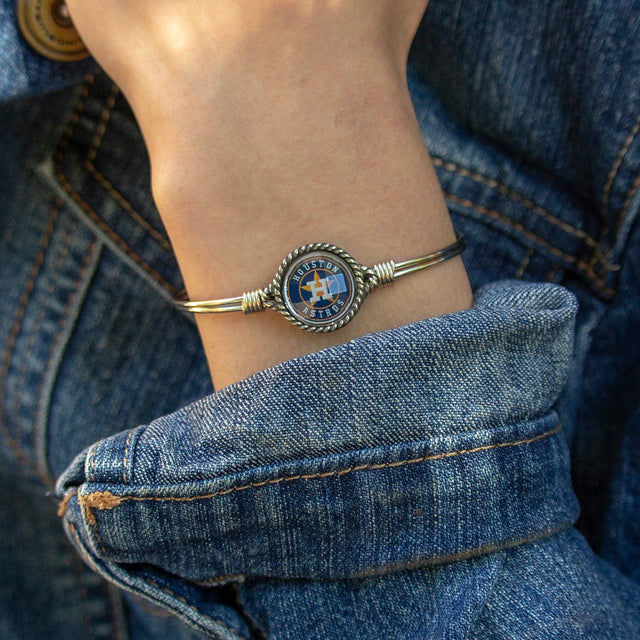Houston Astros Bangle Bracelet-Bangle Bracelet-finish:-Luca + Danni