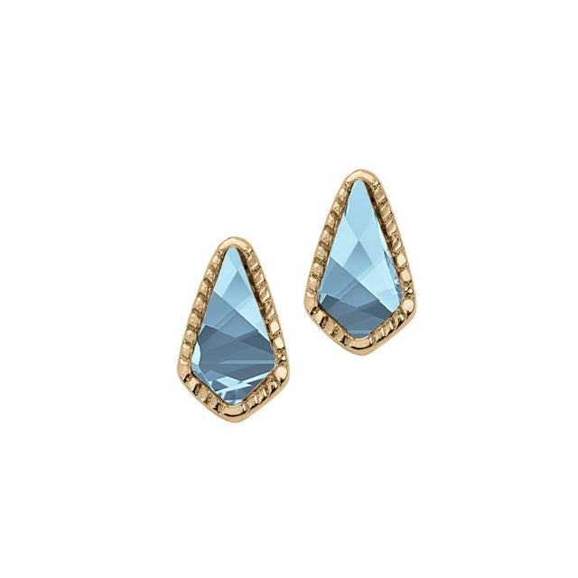 Sloane Stud Earrings In Aqua-Earrings-finish:18k Gold Plated-Luca + Danni