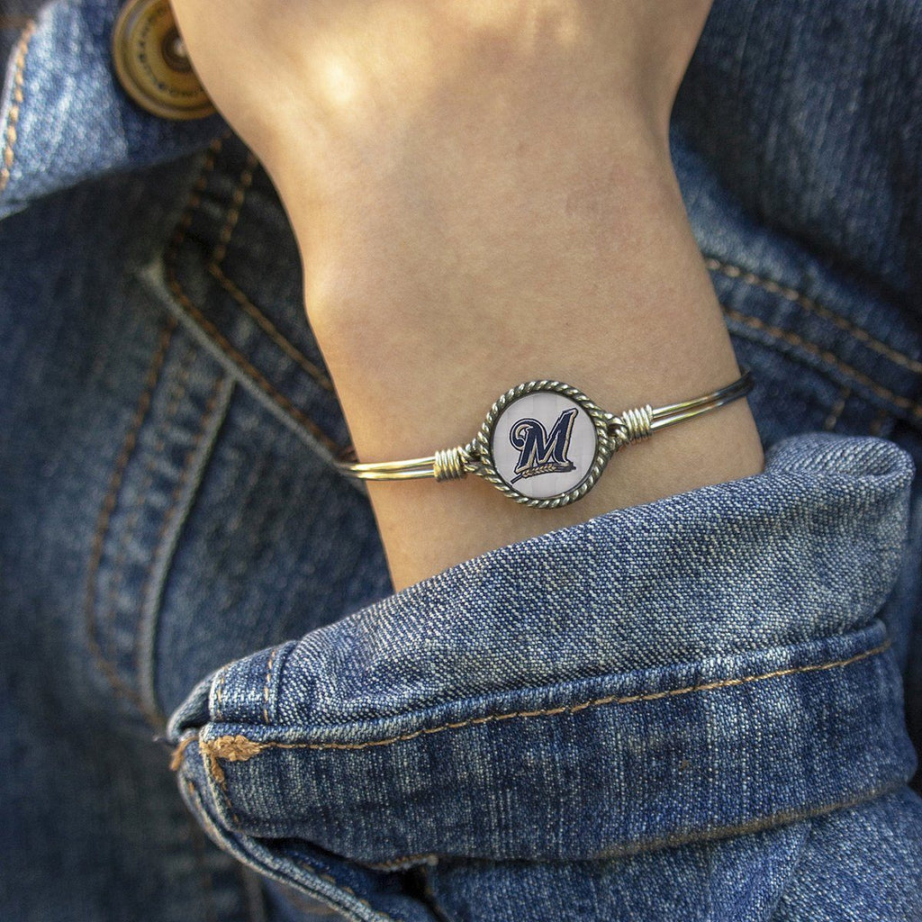 Milwaukee Brewers Bangle Bracelet-Bangle Bracelet-finish:-Luca + Danni