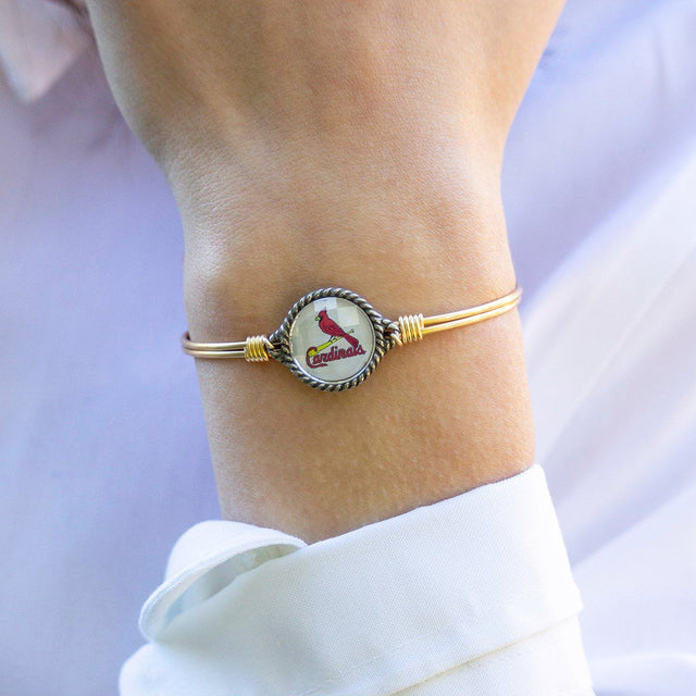 St. Louis Cardinals Bangle Bracelet-Bangle Bracelet-finish:-Luca + Danni