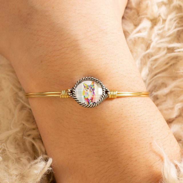 Colorful Cat Bangle Bracelet