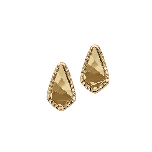 Sloane Stud Earrings In Champagne-Earrings-finish:18kt Gold Plated-Luca + Danni