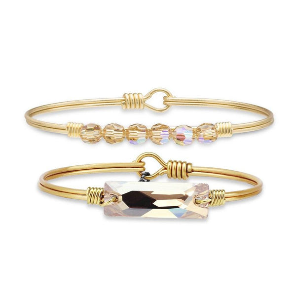 Champagne Zoey and Hudson Bangle Stack