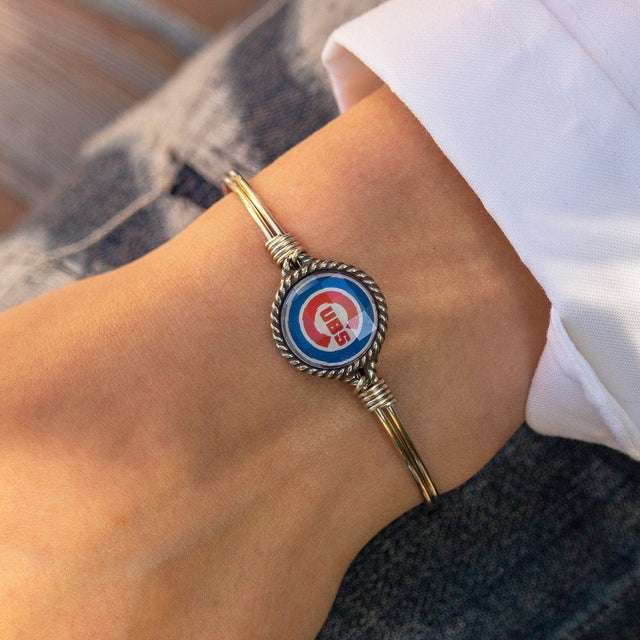 Chicago Cubs Bangle Bracelet-Bangle Bracelet-finish:-Luca + Danni