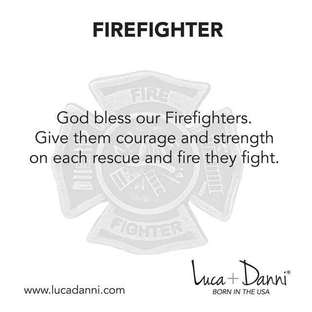 Firefighter Bangle Bracelet-Bangle Bracelet-finish:-Luca + Danni