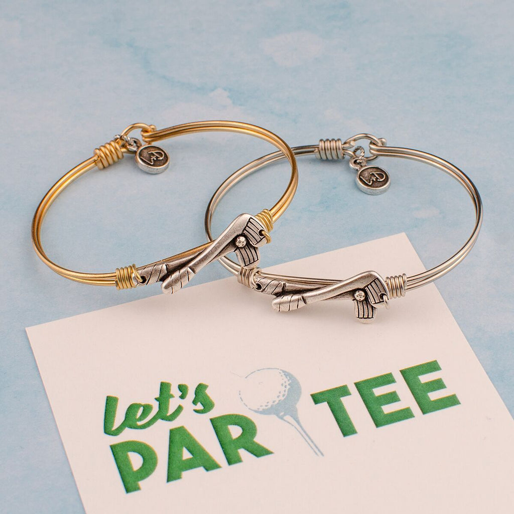 Golf Bangle Bracelet choose finish: