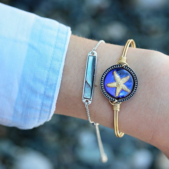 Starfish Intaglio Bangle Bracelet-Bangle Bracelet-finish:-Luca + Danni