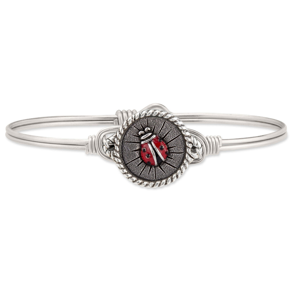 Ladybug Bangle Bracelet choose finish:Silver Tone
