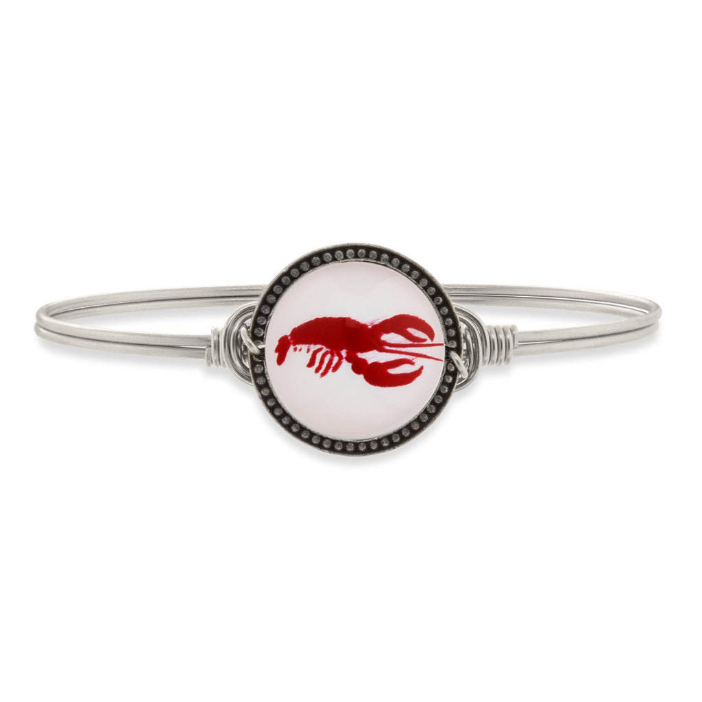 Lobster Intaglio Bangle Bracelet