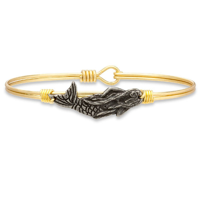 Mermaid Bangle Bracelet-Bangle Bracelet-Regular-finish:Brass Tone-Luca + Danni