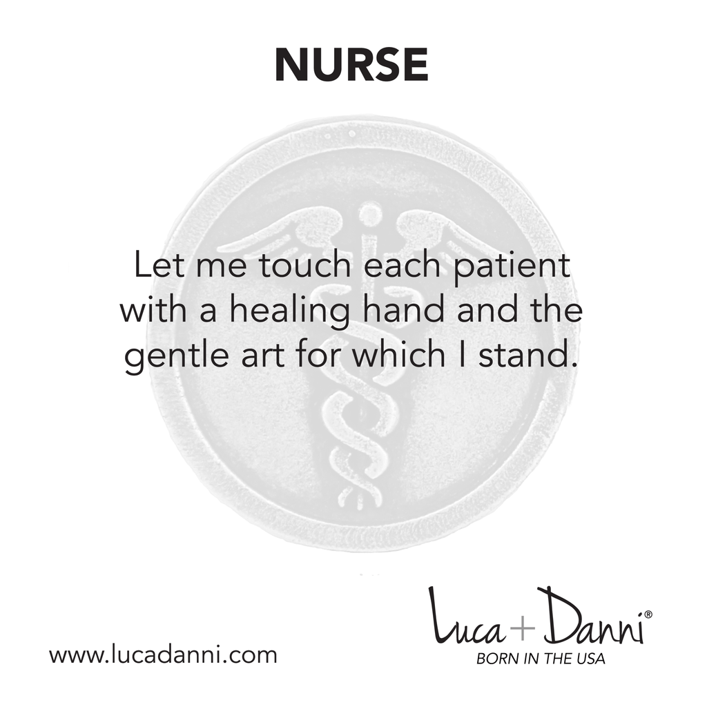 Nurse Bangle Bracelet-Bangle Bracelet-finish:-Luca + Danni