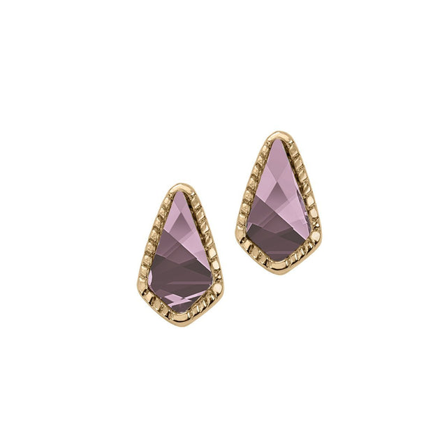 Sloane Stud Earrings In Antique Pink-Earrings-finish:18kt Gold Plated-Luca + Danni