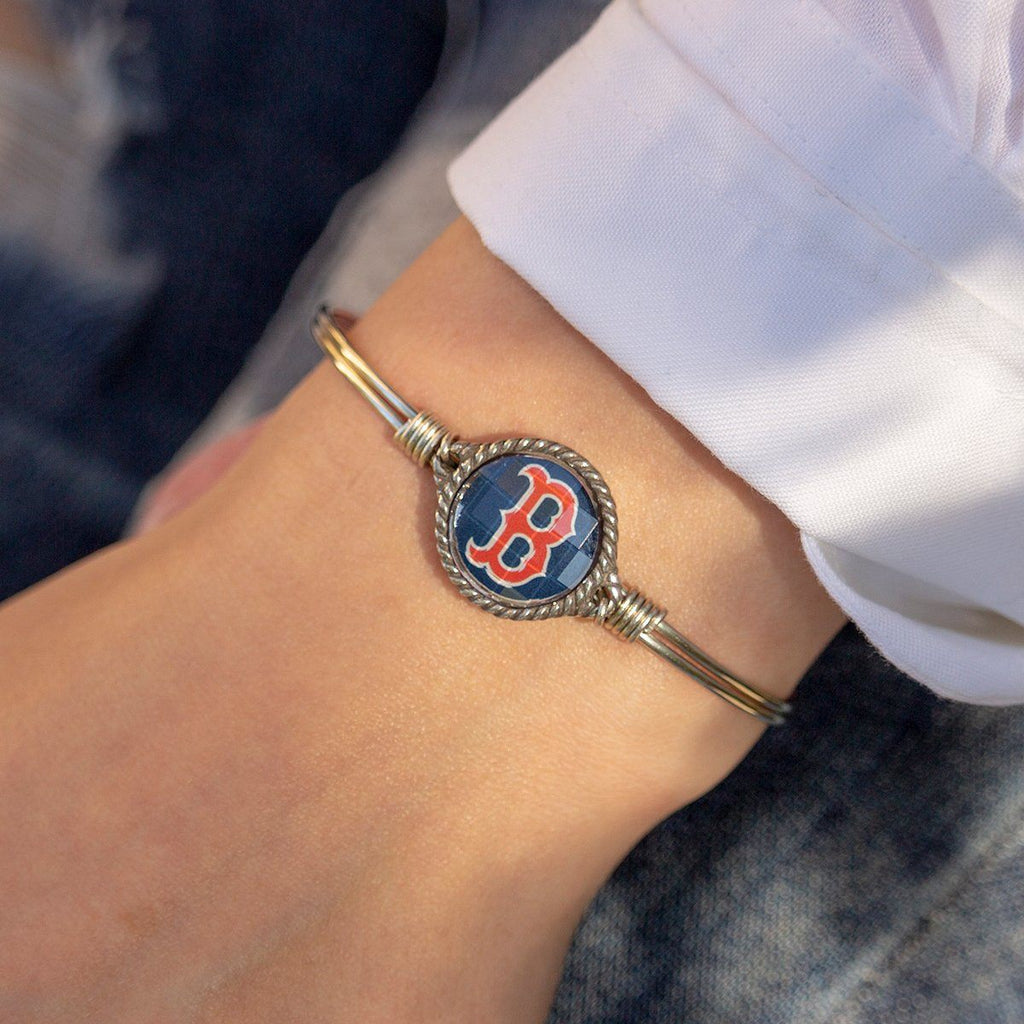 Boston Red Sox Bangle Bracelet-Bangle Bracelet-finish:-Luca + Danni