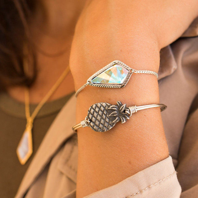 Sloane Slider Bracelet In Crystal AB