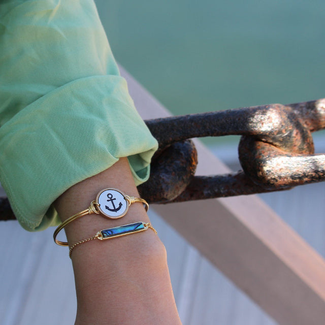 Stay Anchored Bangle Bracelet-Bangle Bracelet-finish:-Luca + Danni