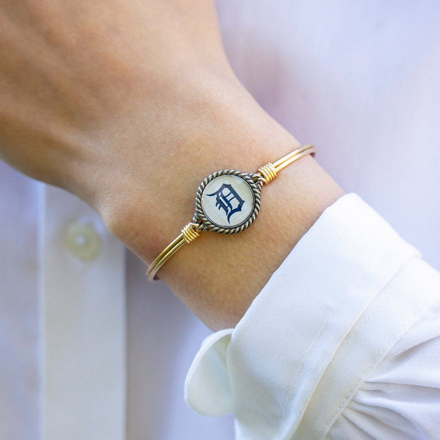 Detroit Tigers Bangle Bracelet-Bangle Bracelet-finish:-Luca + Danni