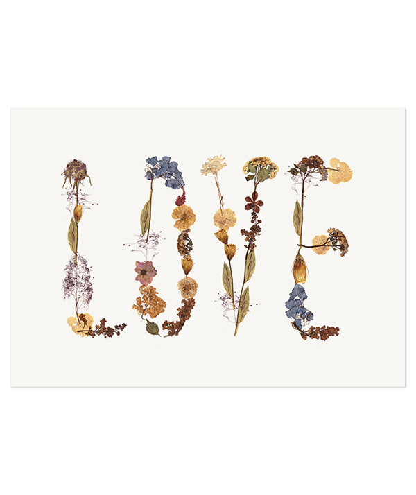 PRESSED FLOWERS - LOVE
