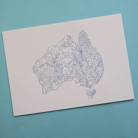 Australia Love (Pale Blue)