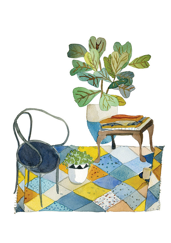 Bentwood Chair and Fiddle Leaf