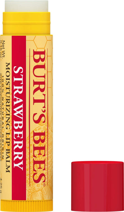 Burt's Bees Moisturizing Lip Balm, Strawberry, 0.15 Ounce - PULCHRA STORE™