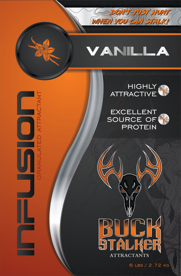 Vanilla Deer Attractant Infusion for sale at Buck Stalker Attractants.