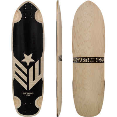 Earthwing Hoopty 34 Fiber Weave Longboard Skateboard Deck