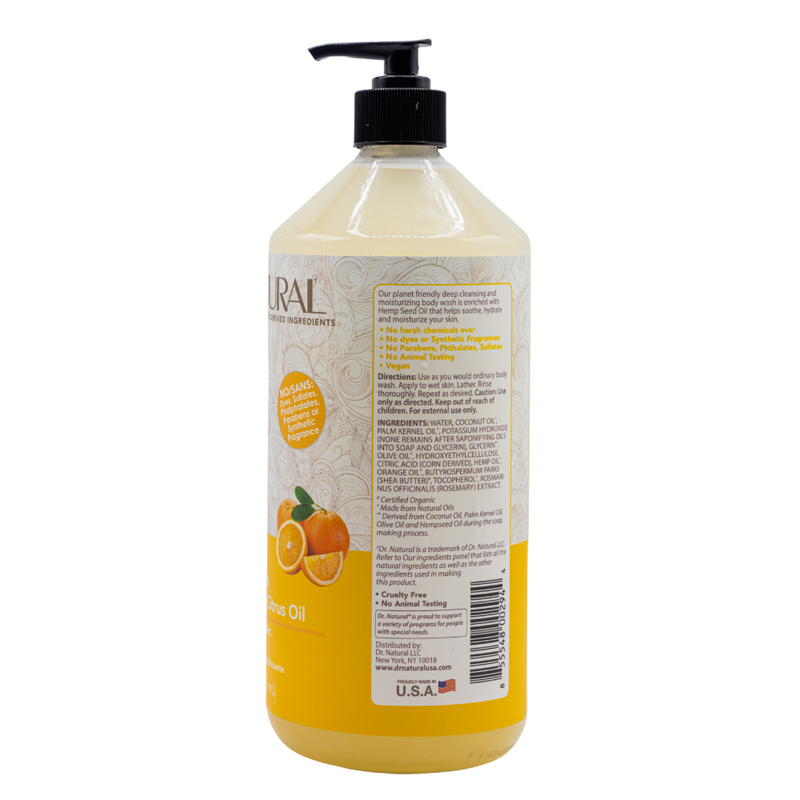 Hemp Body Wash Citrus