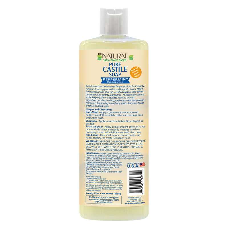 Pure Liquid Castile Soap Peppermint