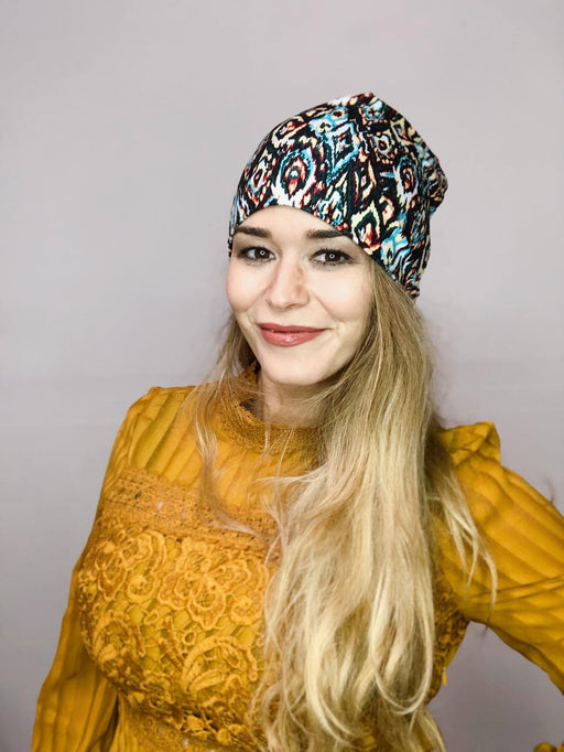 Ikat Slouch Beanie
