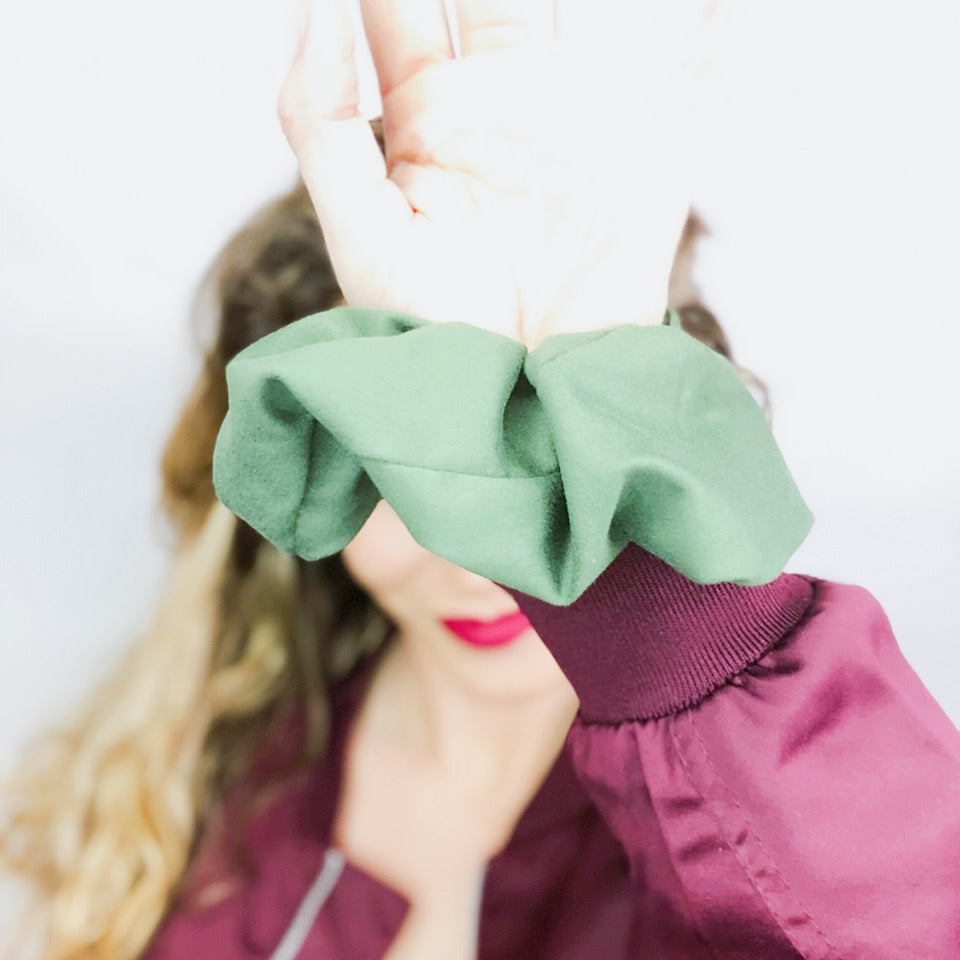 Olive Scrunchie  - Pieces To Peaces